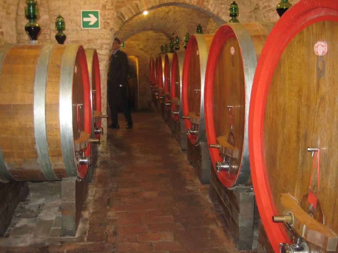 Wine Cellar at Bottega Divino in Montepulciano