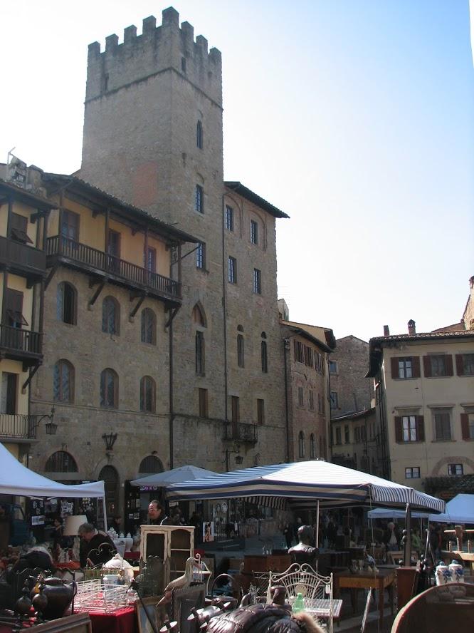 Antiques Market at Piazza Grande, Arezzo